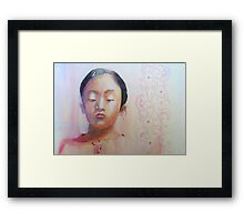 Thinking, watercolor on paper Framed Print
