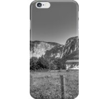Obertraun walks 1 b&w iPhone Case/Skin