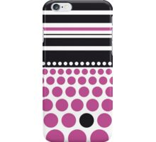 Purple Spots and Black Stripes iPhone Case/Skin