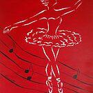 Ballerina in Red by Allegretto