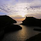 Cornwall: Boscastle Harbour in Silhouette by Rob Parsons