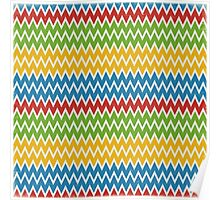 Multicolor Colorfull Zigzag Chevron Poster