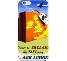 Ireland Vintage Travel Poster Restored iPhone Case/Skin