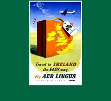 Ireland Vintage Travel Poster Restored Unisex T-Shirt