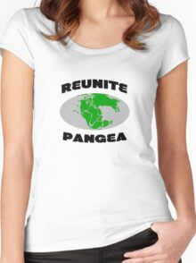 Reunite pangea geek funny nerd Women's Fitted Scoop T-Shirt