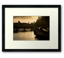 Golden Sunset Over the River Liffey Framed Print