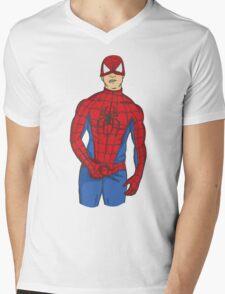 Spidy tease Mens V-Neck T-Shirt