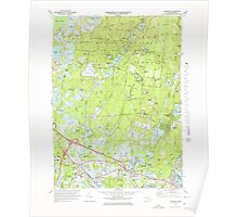 Massachusetts  USGS Historical Topo Map MA Wareham 351390 1972 25000 Poster