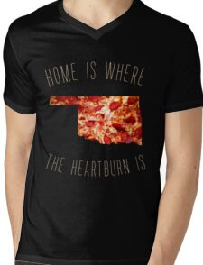 Oklahoma - Home Is Where The Heartburn Is Mens V-Neck T-Shirt