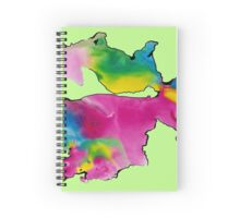 Watercolor movement Spiral Notebook