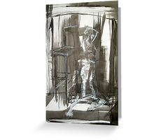 Figure with Chair Greeting Card