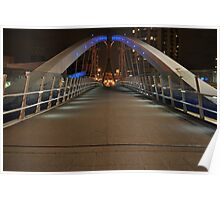 LOWRY BRIDGE AT NIGHT Poster