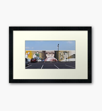 The Intensity of Bowling Framed Print
