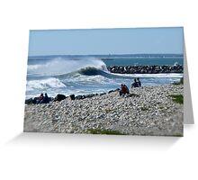 Hurricane Igor Sends Ocean Waves - Point Judith - Rhode Island Greeting Card