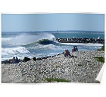 Hurricane Igor Sends Ocean Waves - Point Judith - Rhode Island Poster
