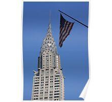 Chrysler Building and Flag Poster