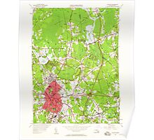 Massachusetts  USGS Historical Topo Map MA Taunton 350632 1949 24000 Poster
