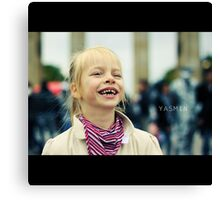 A child´s laughter Canvas Print
