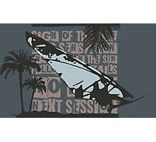 Windsurf Text Graphic Photographic Print