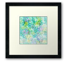 Enchanted Spring Floral Abstract Framed Print