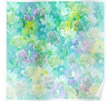 Enchanted Spring Floral Abstract Poster