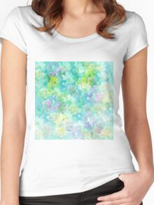 Enchanted Spring Floral Abstract Women's Fitted Scoop T-Shirt