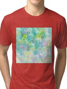 Enchanted Spring Floral Abstract Tri-blend T-Shirt