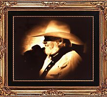 """""""Country Legend ... 'The Southern Boy""""' in a matted and framed presentation for prints and products by © Bob Hall"""