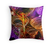 fancy martini glasses Throw Pillow