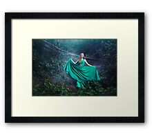 Forest queen mystic woman Framed Print