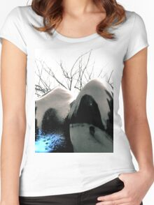 Reflecting Blue of Winter Women's Fitted Scoop T-Shirt