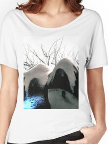 Reflecting Blue of Winter Women's Relaxed Fit T-Shirt