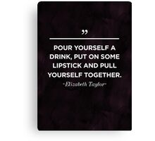 Elizabeth Taylor Inspirational Quote Canvas Print