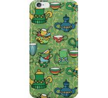 Tea green pattern iPhone Case/Skin