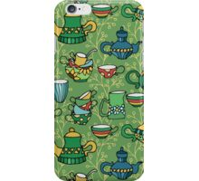 Tea green pattern iPhone Case/Skin