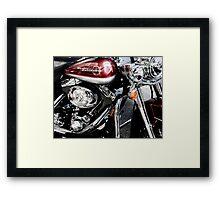 red harley too Framed Print