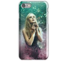Girl in purle smoke - iPhone Case/Skin