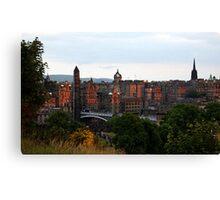 Edinburgh Evening - from Calton Hill Canvas Print