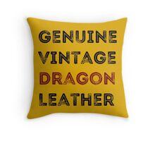 Dragon Leather Throw Pillow