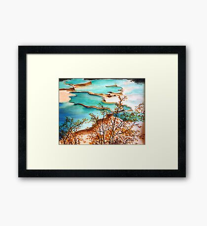 Turquoise Terraces (sold) Framed Print