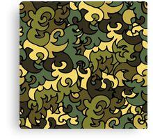 Military pattern. Canvas Print