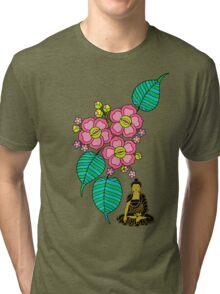 Buddha Under the Bodhi Tree Tri-blend T-Shirt