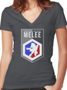 Smash Melee - Fox Women's Fitted V-Neck T-Shirt