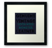 Loch Ness Leather Framed Print