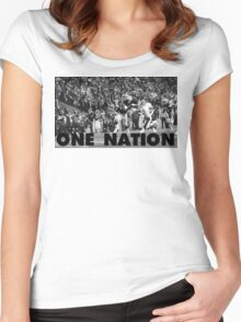 ONE NATION Women's Fitted Scoop T-Shirt