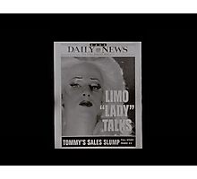 Limo Lady Talks ~ Hedwig and the Angry Inch Photographic Print