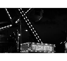 Tickets for sale Photographic Print