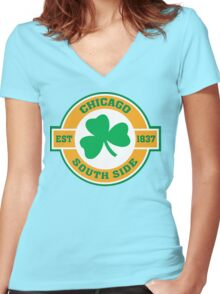 Chicago South Side Irish Women's Fitted V-Neck T-Shirt