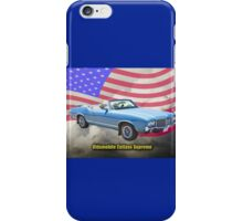 Oldsmobile Cutlass Supreme And American Flag iPhone Case/Skin