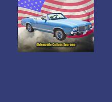 Oldsmobile Cutlass Supreme And American Flag Unisex T-Shirt